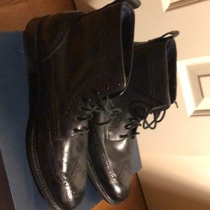 Cole Haan Kennedy wingtip boot (black)